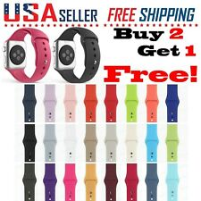 Silicone Band Strap Apple Watch Sports iWatch Series 5/4/3/2/1, 44/42/40/38mm