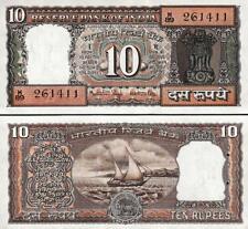 INDIA 10 RUPEES 1985-90 P 60l R.N. MALHOTRA SIGN 85 UNC W/H