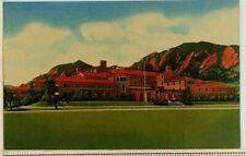 1951 University of Colorado Buffaloes Postcard Mens Residence Hall Bear Mountain