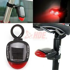 Solar Powered LED Bicycle Taillight Bicycle Cycling Rear Safety Warning Lamp