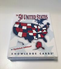 """Pomegranate """"The 50 United States"""" Updated Edition Knowledge Cards New Sealed"""
