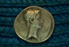 AUGUSTUS  5 BC....... BEAUTIFUL EARLY SILVER.... GREAT PORTRAIT