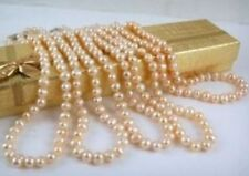 """Wholesale lots of 5 pc 7-8mm Pink Akoya Pearl Necklace 18"""""""