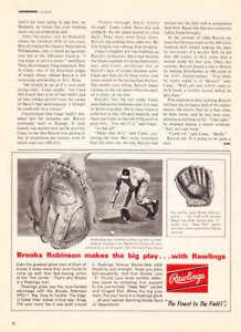 1967 Brooks Robinson photo Rawlings Baseball Glove ad