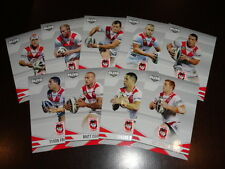 2013 NRL ELITE TEAM SET OF 9 CARDS ST GEORGE ILLAWARRA
