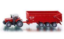 Siku 1844 - Massey Ferguson Tractor & Trailer     (1:87) n Plastic & Metal Model