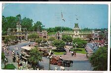 Disney Disneyland Town Square Main street  Postcard