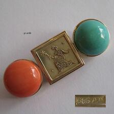 275 Exquisite granulierte Brosche - Gold 585 - 17,3 Gramm  Koralle Türkis