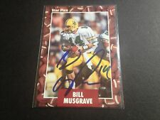 Bill Musgrave Oregon Ducks 1991 Star Pics Rookie Signed Auto Card