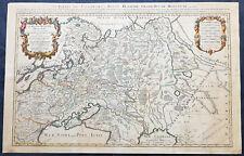 1698 Alexis Jaillot Large Antique Map European Russia, Poland, Baltics, Crimea