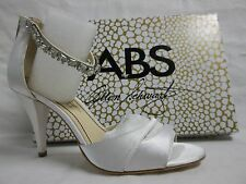 ABS By Allen Schwartz Size 9 M Daelyn White Ankle Strap New Womens Shoes