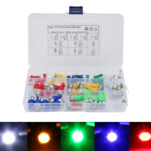 50PC Trailer T5 T10 Auto Car Instrument Panel Light Bulb Clusters Dashboard Lamp