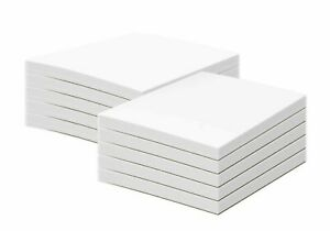 """5 x 7"""" White Memo Pads - Chipboard On Back - 50 Sheets Per Pad, 10 Pads Per Pack"""