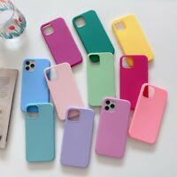 For iPhone 11 12 Pro Max SE 2020 XS XR 8 7 6 Candy Color Soft Rubber Case Cover