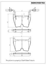 Disc Brake Pad Set fits 2003-2018 Audi R8 RS5 RS3  DASH 4 BRAKES
