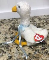 Ty Beanie Babies GEORGETTE Goose Attic Treasure 1993 Retired Jointed Red Tag