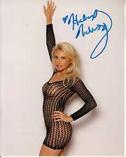 JACQUI HOLLAND hand-signed HOT MESH DRESS NO UNDIES 8x10 w/ uacc rd coa McKINZEY