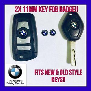 2 X BMW REMOTE KEY FOB BADGES  LOGO EMBLEM STICKER 11MM 1 3 5 7 M3 M5 X5