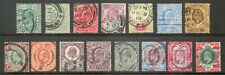 GB - Edward V11 - 1902/13 Definitive set - 15 values - good/fine used