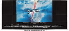 "Movie Poster Superman the Movie 1978 Original Billboard 108""x240"" VF 7.5 Folded"