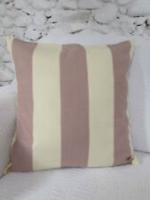 Cushion Cover, Designers Guild, Old Rose Pink, Cream, Stripe, Soft Cotton Blend.