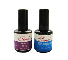Top Coat + Primer Base Gel Nail Art UV Gel Polish for Nail DIY Manicure Set RO