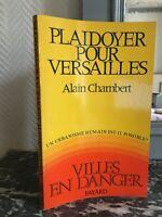 Promoción Para Versailles Alain Chambert Ciudad En Peligro Urbanisme Fayard 1970