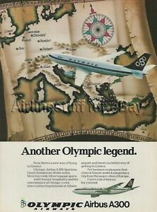 1981 OLYMPIC Airways AIRBUS A300 widebody PRINT AD airlines ATHENS GREECE advert