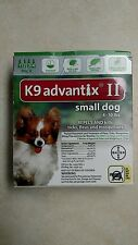 K9 Advantix II Small Dogs up to 10 lbs Flea and Tick Spot On Green 4 Month