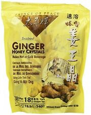 Instant Ginger Honey Crystals Pack of 30 Bags 18 g Sachets, New, Free Shipping