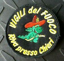 """OLD ITALY RIVA PRESSO CHIERI VIGILI DEL FUOCO DEPT CROCODILE 2.5"""" PATCH UNUSED"""