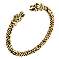 Viking Dragon Head Bracelet Norse Mythology Jormungandr Beast Bangle Men Jewelry
