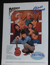 1997 Bela Fleck Doug Green John Hartford and more Tacoma Papoose guitar print Ad