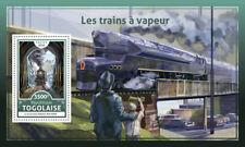 Togo 2016 MNH Steam Trains Locomotives Engines 1v S/S Railways Rail Stamps