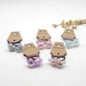 2PCS - Girls Baby Kids Children Shiny Cute Elastic Hair Band Set