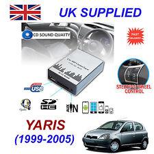 YARIS 1999-2005 MP3 SD USB CD AUX Input Audio Adapter Digital CD Changer Module