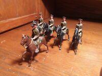 Vintage BRITAINS U.S.A. Cavalry In Service Dress, 5 Piece Set #229