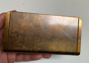 Antique Arts & crafts Art Deco Silver Crest Genuine Bronze Letter holder