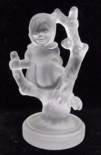 "1990 Hummell Goebel  Crystal Collection ""Girl in Tree"" Figurine #SHLF-GINT562"