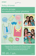 BABY SHOWER - 10 x SELFIE PHOTO PROPS FOR BABY SHOWER PARTY GREAT FUN..!