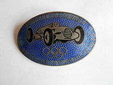 Vintage 1935 German Auto Union Race Car Badge Enamel Pinback 1936 Berlin Olympic
