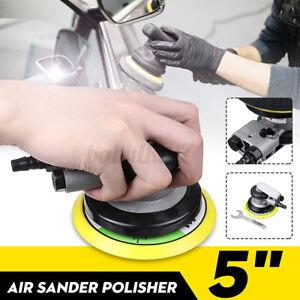 5'' Air Sander Polisher Angle Orbital Polishing Buffing Car Grinding Pad Wrench