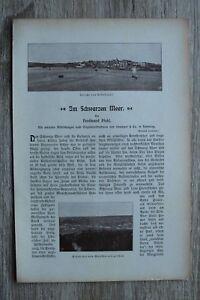 Schwarzes Meer Sebastopol Tiflis +++ 1900/01 Ferdinand Pfohl Zeitschrift Artikel