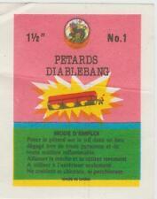 Petards Firecracker Penny Pack Label