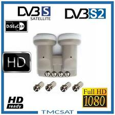 Monobloc QUAD LNB 0.1dB HD Ready 6° astra19.2° hotbird 13° DOUBLE TETE 4 S