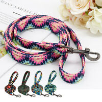 5ft Fashion Print Dog Walking Leads Leash Clip Nylon Rope for Medium Large Dogs