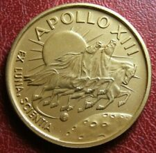 APOLLO XIII 17 - 4 - 1970 CLUCKLICHE ODYSSEE gold plated medal