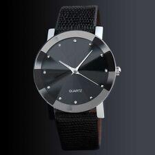 Dial Women Women's Band Leather Luxury Watch Quartz Stainless Steel Wrist