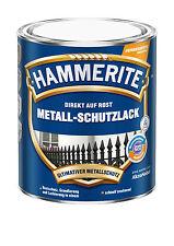 Hammerite Metallschutzlack glänzend blau 250 ml Rostschutz Lackierung Lack Neu
