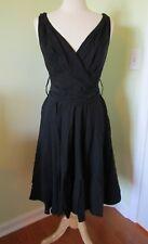 Women's Grace Karin V-Neck Swing Tea Dress Black MEDIUM M New With Tags